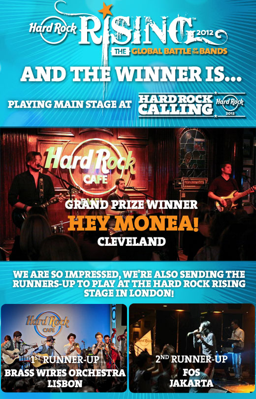 Hard Rock Rising grand prize announcement