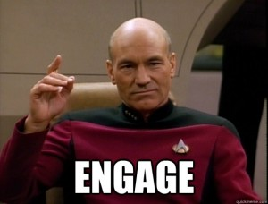 Picard engage meme