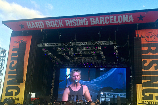Enemy Planes on the Hard Rock Rising Barcelona main stage
