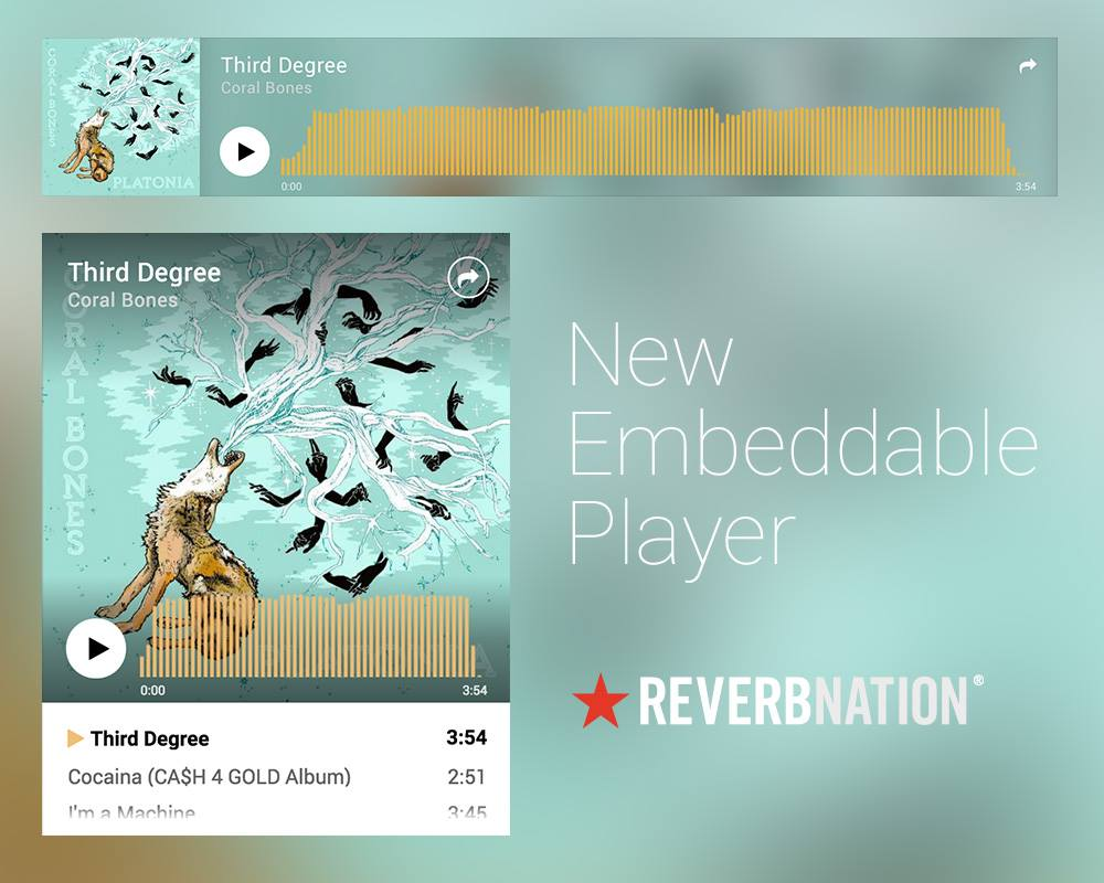 New Song Player Announced — Embeddable & Shareable