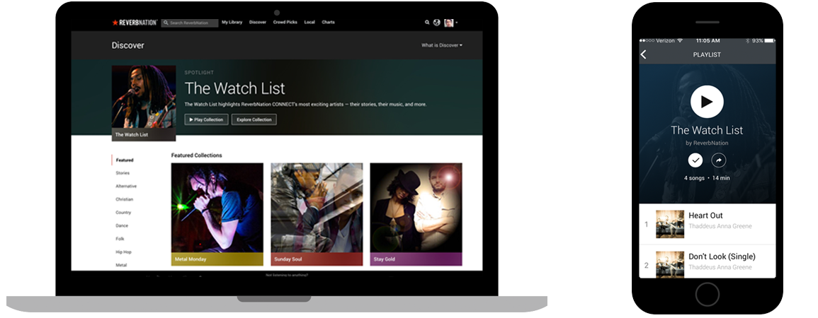 ReverbNation Discover: Find Great New Music On Any Device
